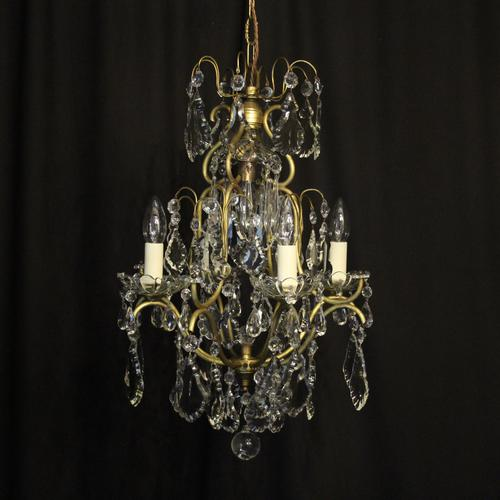 French Birdcage 5 Light Antique Chandelier (1 of 10)