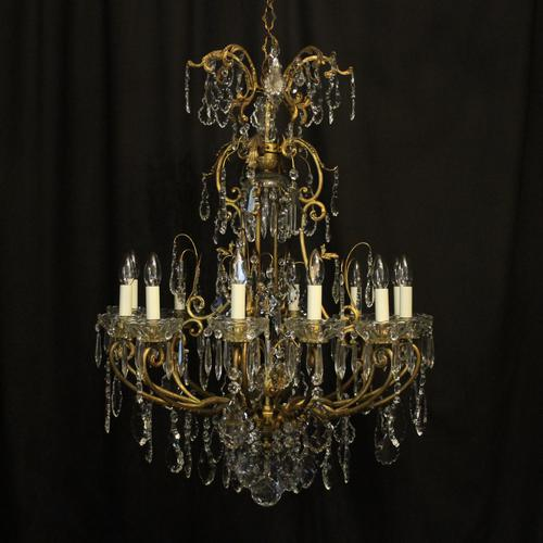 French Gilded Bronze Cage Antique Chandelier (1 of 10)