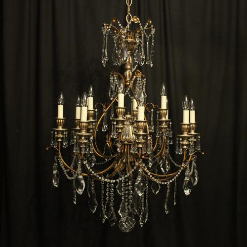 Italian Florentine 12 Light Polychrome Chandelier (1 of 10)