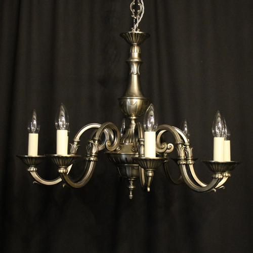 French Silver Gilded 8 Light Chandelier (1 of 10)
