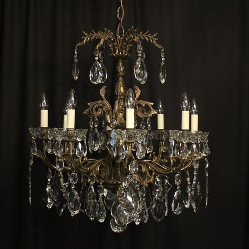Italian 8 Light Gilded Bronze Antique Chandelier (1 of 10)