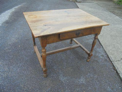 Faded French Fruitwood Side Table (1 of 4)