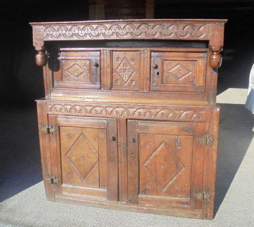 17th Century Carved Oak Cupboard (1 of 5)