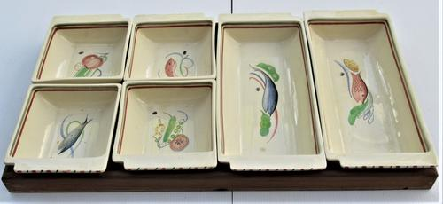 Susie Cooper Crown Works Burslem Hors D'oeuvres Set c.1939 (1 of 11)