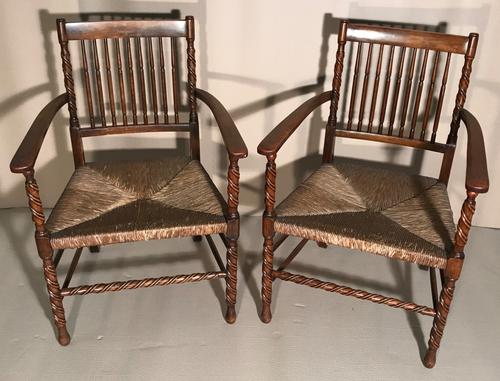 Pair of Carver Chairs c.1900 (1 of 7)