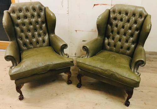 Pair of Wing Chairs (1 of 11)