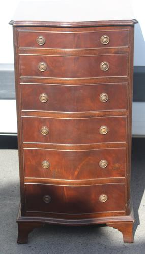 1960s Mahogany Serpentine Chest of 6 Drawers (1 of 4)