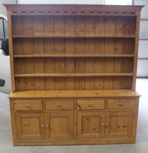 1920s Large Antique Pine Original Dresser with Rack (1 of 4)