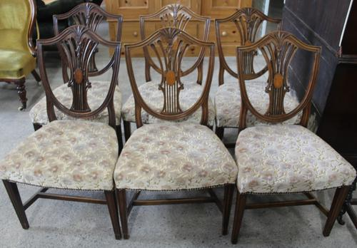 1900s Mahogany Set 6 Wheatcheaf Style Dining Chairs 4+ 2 Carvers (1 of 3)