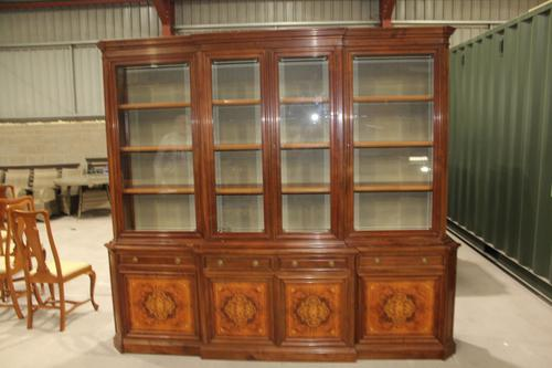 1960s Large 4 Door Mahogany Breakfront Bookcase with Glazed Top (1 of 5)