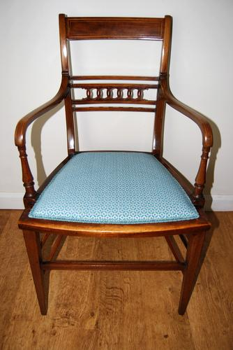 Edwardian Inlaid Elbow Chair by RAlph Johnson (Warrington) (1 of 11)
