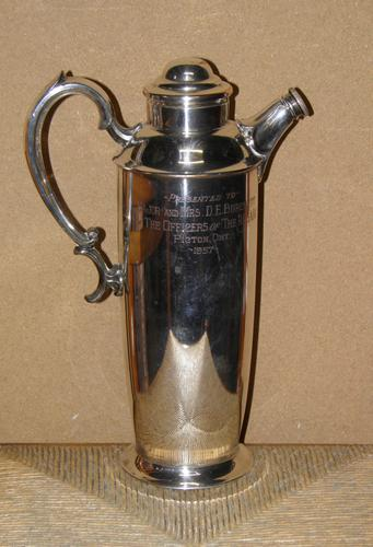 Military Silver Plate Flask Presented To Major & Mrs D E Burchett From Rcsa 1957 (1 of 13)