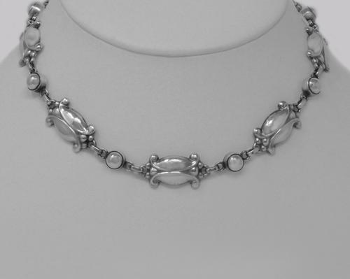 Vintage Georg Jensen Necklace Sterling Silver No 15 Moonlight Blossom 1970s (1 of 7)