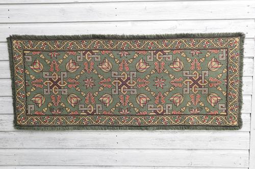 Scandinavian / Swedish 'Folk Art' Skåne Region, Woven Floral & Geometric Pattern Table Runner / Wall Hanging or Coverlet, 1936 (1 of 26)