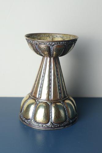 Arts & Crafts / Jugendstil, Ignatius Taschner Pricket Brass Candle Stick Holder, German C.1910 (1 of 24)