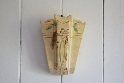 Art Deco Arthur Wood Wall Pocket with Gold Lustre (1 of 10)