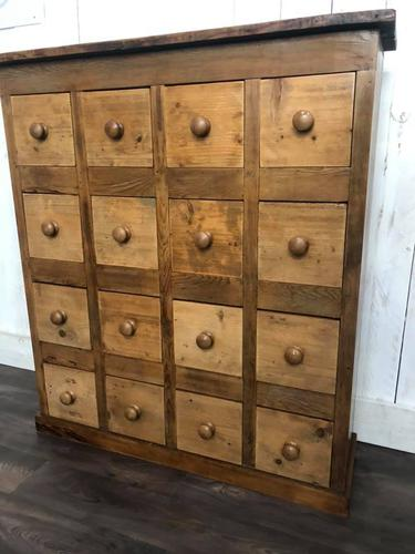 Substantial Pine Apothecary Cabinet (1 of 7)
