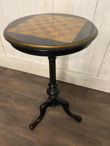 Aesthetic Movement Tilt Top Chess Board Top Table (1 of 9)