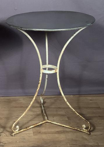 French Zinc Topped Bistro Pavement or Terrace Table (1 of 6)