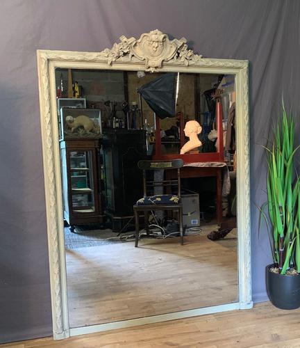 Superb Large French Chateau Painted Mirror (1 of 14)