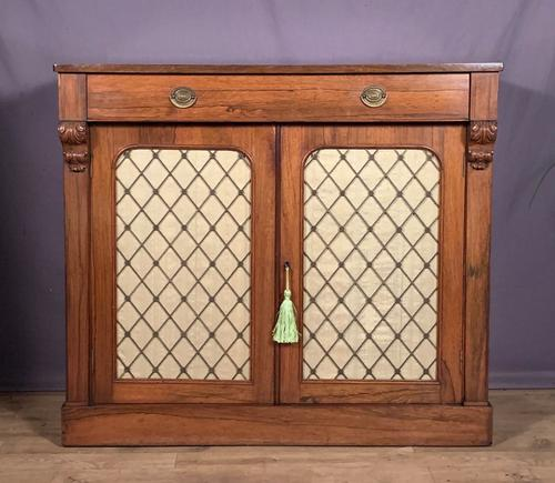 Good Looking Useful Late Regency Rosewood Chiffonier (1 of 7)
