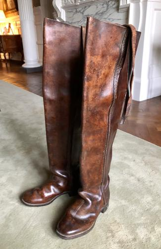 19th Century French Calvary High Boots (1 of 7)