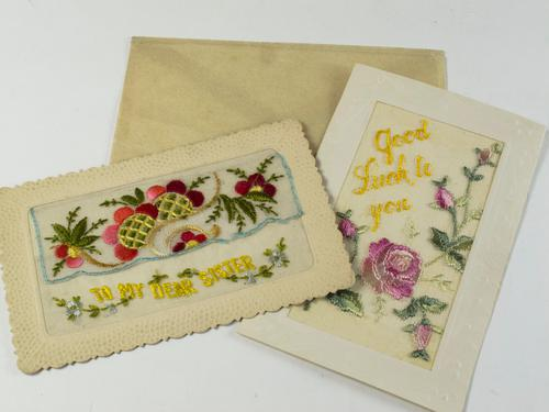 Two First World War Embroidered Postcards (1 of 6)