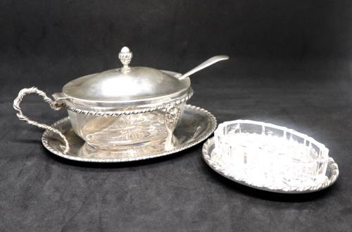 Marco Style Silver & Crystal Glass Parmesan & Salt Bowl (1 of 12)