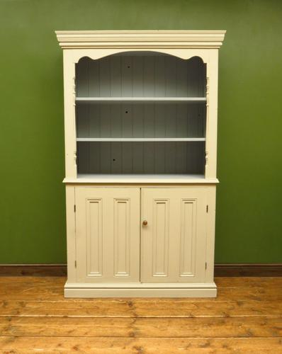 Painted Book Cabinet Dresser, Housekeepers Cabinet, Farrow & Ball Drop Cloth (1 of 16)