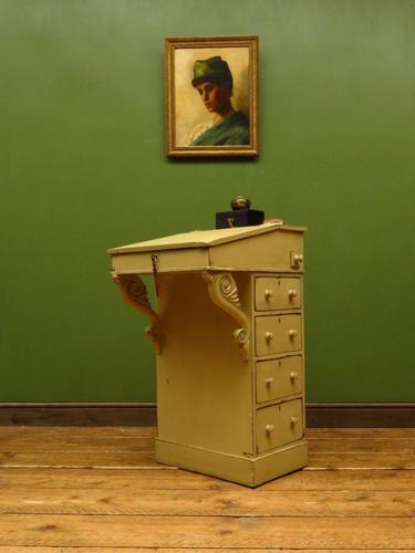 Antique Painted Davenport Desk with Lift Up Lid (1 of 16)