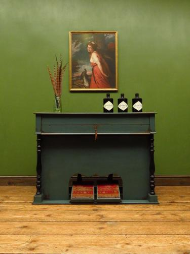 Antique Painted Blue Harmonium Pump Organ, the 'Barmonium' Bar or Console Table (1 of 18)