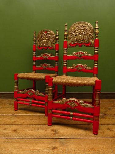 Pair of Vintage Painted Bohemian Chairs (1 of 14)