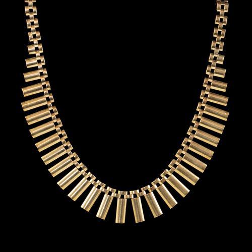 Vintage Cleopatra Fringe Necklace 9ct Gold Dated 1966 (1 of 6)
