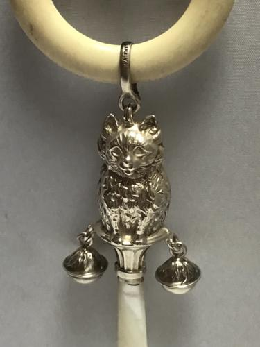 Delightful Solid Silver Rattle (1 of 6)