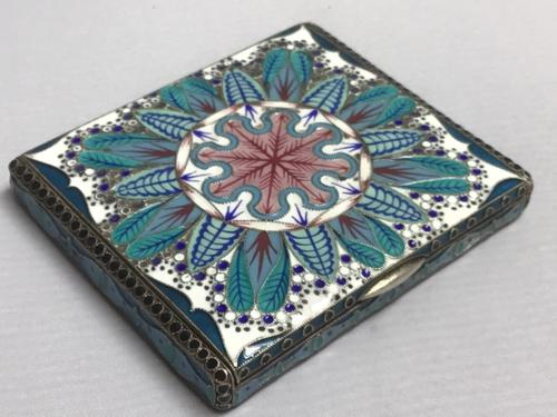 Excellent Russian Silver & Enamel Box (1 of 9)