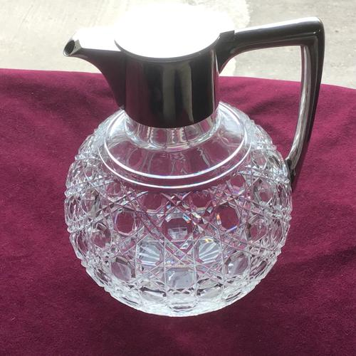 Edwardian Solid Silver Topped Claret Jug (1 of 8)