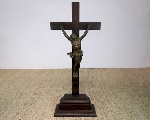 Large Freestanding Christ on the Cross c.1850 (1 of 4)