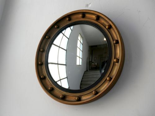 Antique English Convex Mirror (1 of 5)