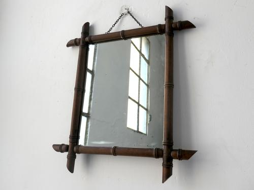 Faux Bamboo Wall Mirror (1 of 6)