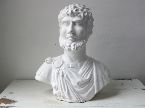 Painted Terracotta Bust of a Roman (1 of 4)