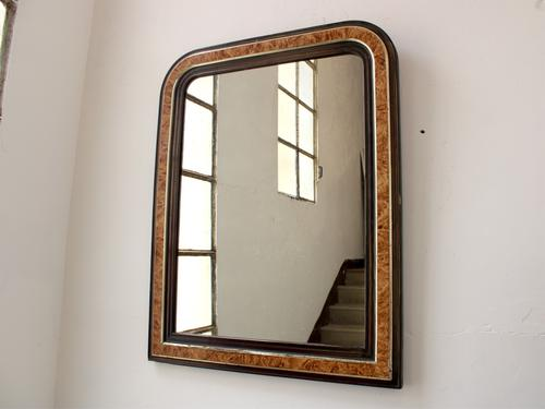 Large 19th Century Louis Philippe Faux Grained Mirror (1 of 6)