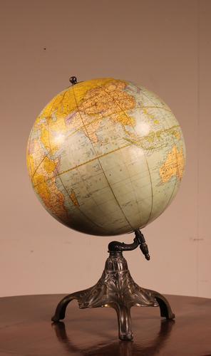 Terrestrial Globe Rand Mcnally & Co Cast Iron Base (1 of 12)