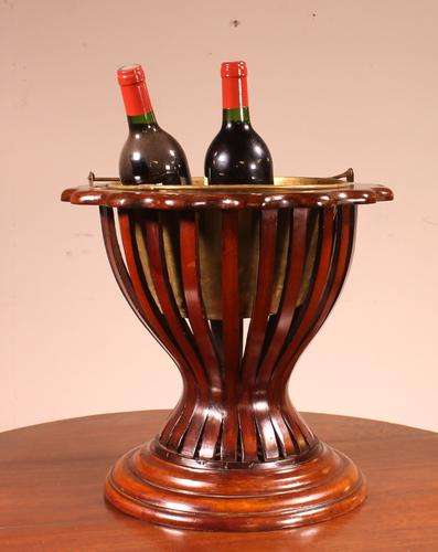 19th Century Mahogany Wine Cooler From England (1 of 8)