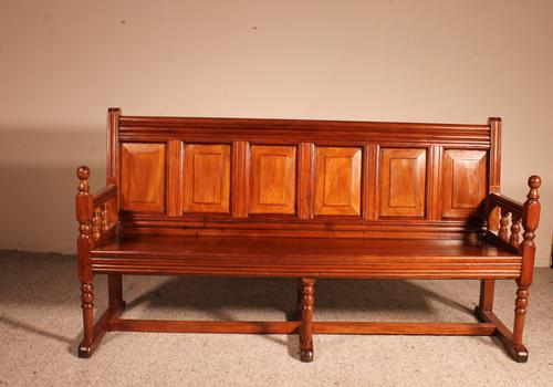 French Bench in Cherry Wood 19th Century (1 of 8)