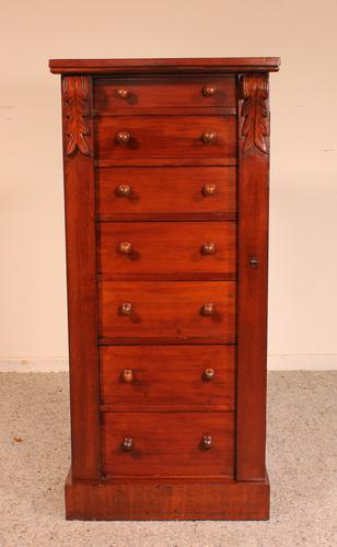 Antique Mahogany Wellington Chest of Drawers 19th Century (1 of 11)