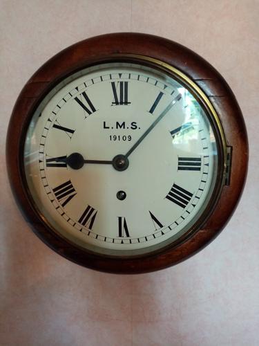 "8"" LMS Railway Clock (1 of 5)"
