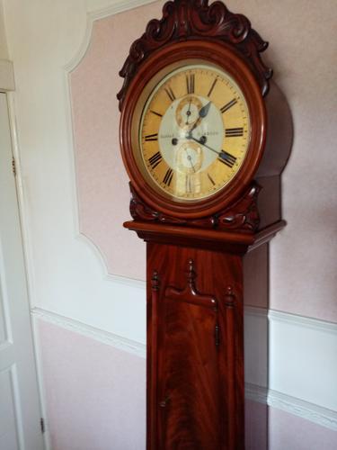 Scottish Drumhead Longcase Clock. Dilger & Barclay. Glasgow (1 of 10)