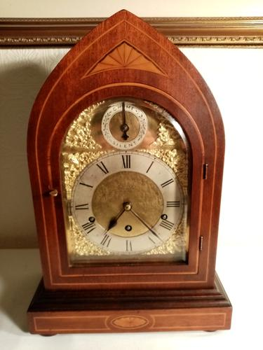 Westminster Chime, Lancet Top, Mahogany Bracket / Mantel Clock (1 of 7)