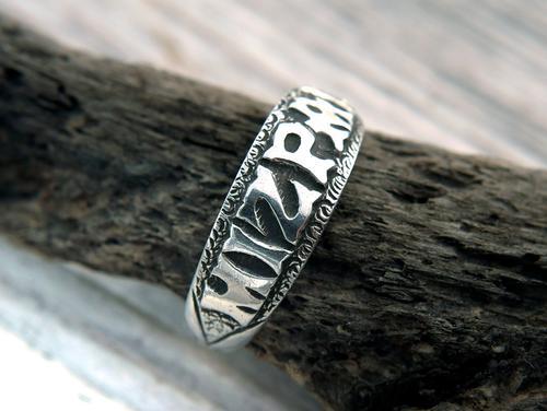 Antique Silver Mizpah Ring, Edwardian circa 1905 (1 of 9)