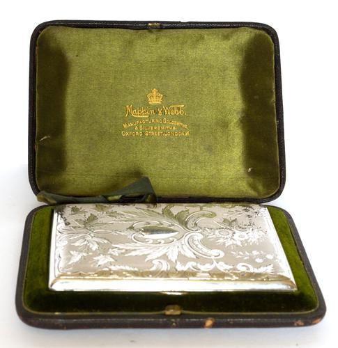 Exceptional Silver Card Case in a Mappin & Webb Box - 1893 (1 of 10)